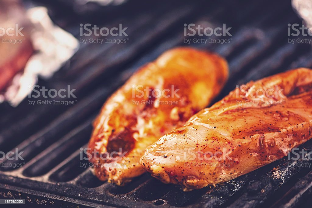 Backyard Grilling royalty-free stock photo