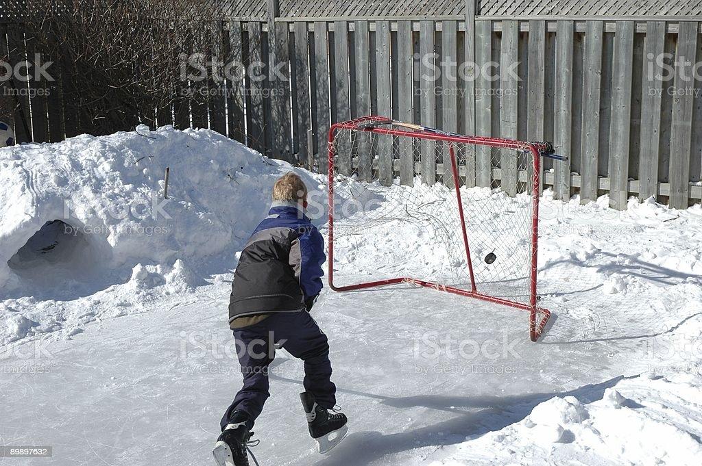 Хоккей на заднем дворе Стоковые фото Стоковая фотография