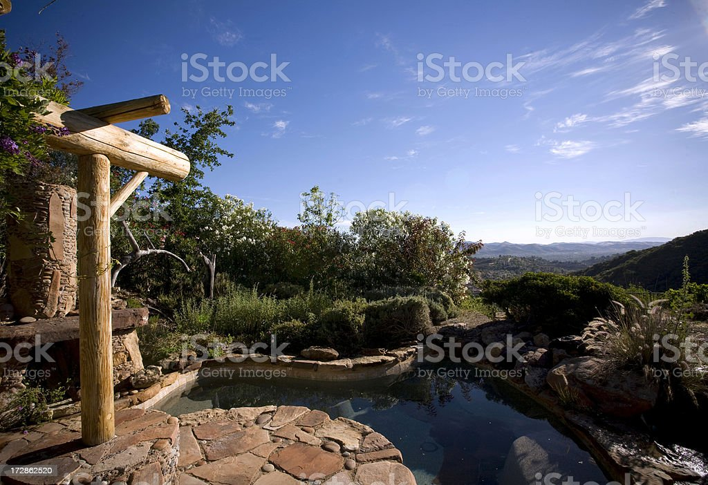 Backyard landscaping and view royalty-free stock photo