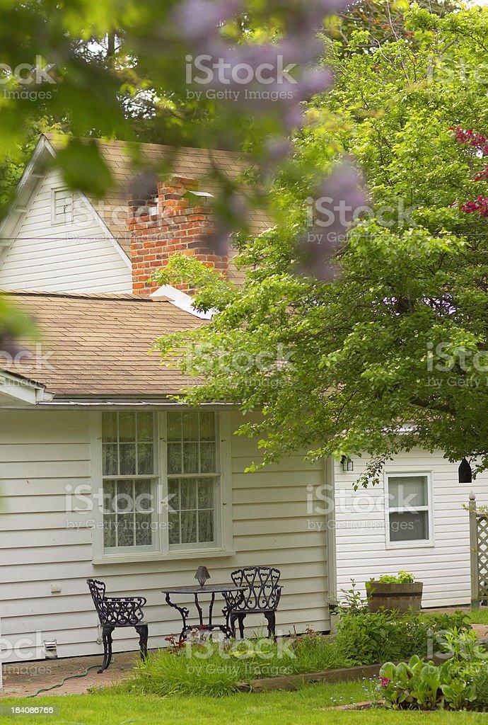 Backyard Patio royalty-free stock photo