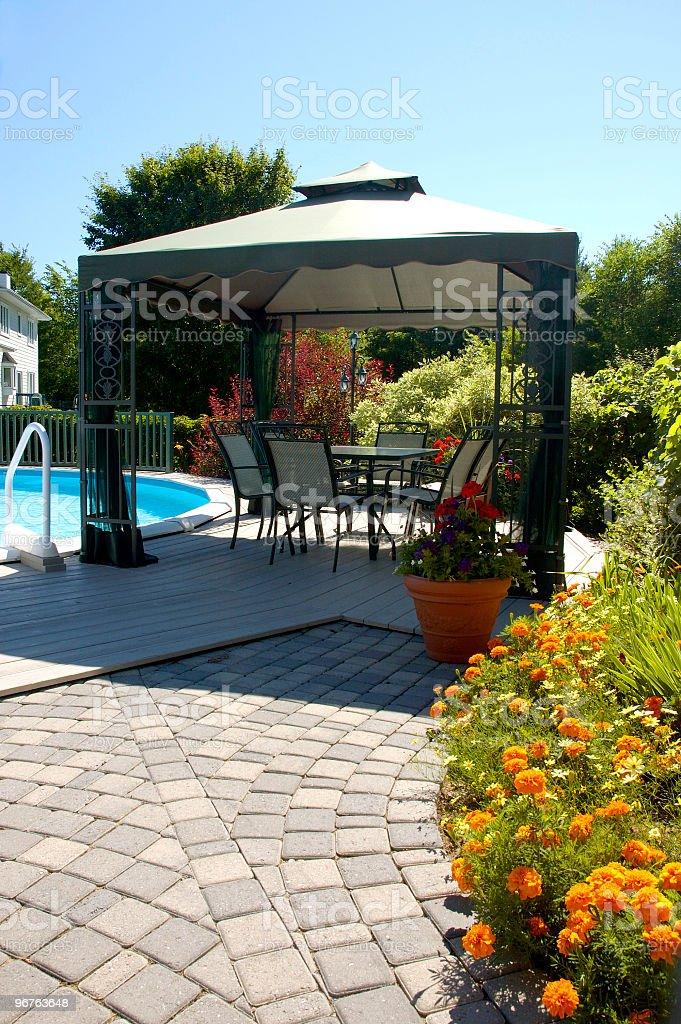 Backyard Patio stock photo