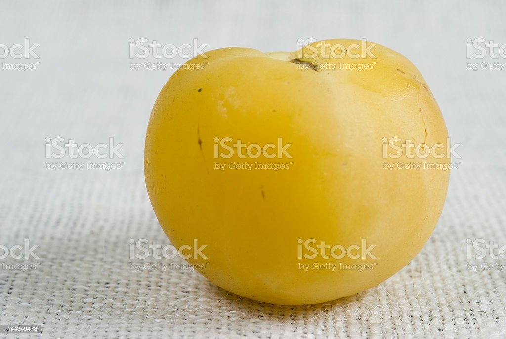 Backyard Peach Tomato royalty-free stock photo