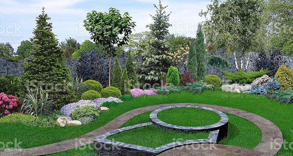 Garten Pflanzen von Pflanzen, 3D render – Foto