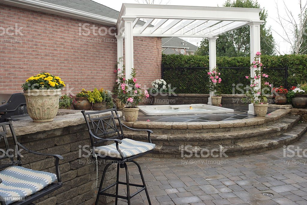 Backyard Pleasure royalty-free stock photo
