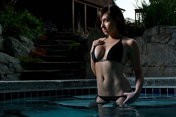 Backyard Pool stock photo