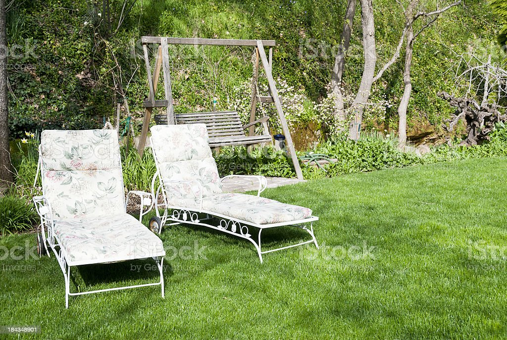 Backyard retreat royalty-free stock photo