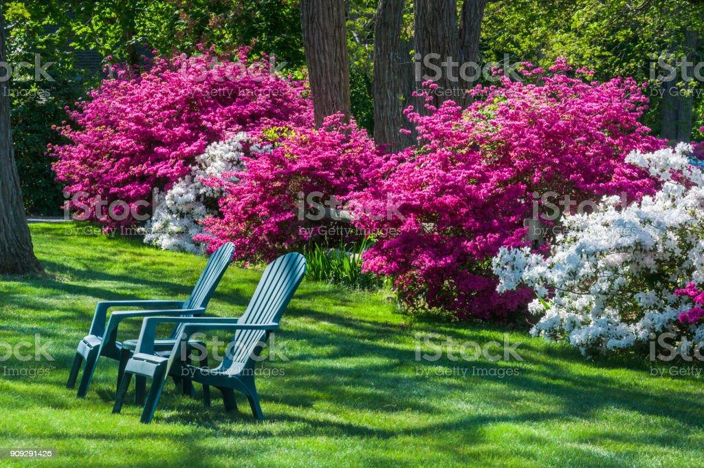 Sitzbereich im Garten – Foto