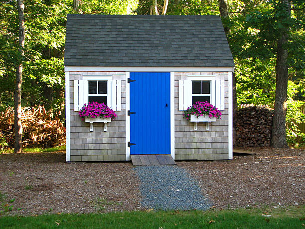 Backyard shed A beautiful backyard shed shed stock pictures, royalty-free photos & images
