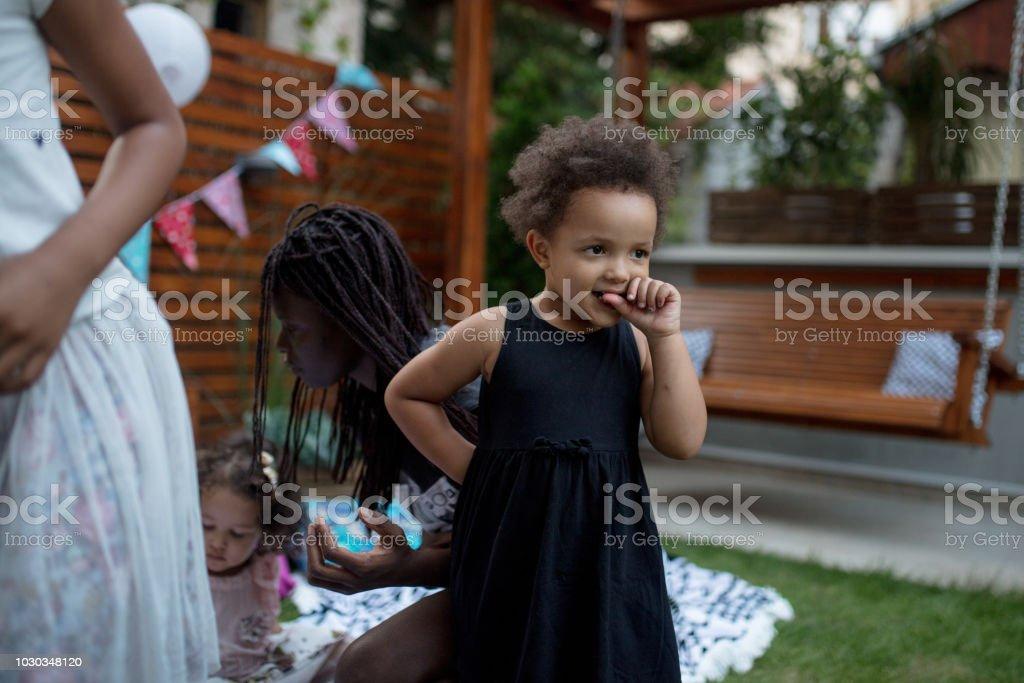 Backyard summer party