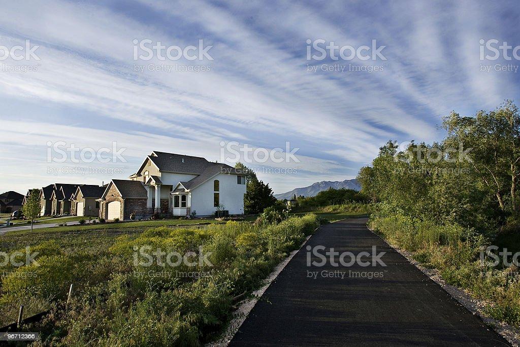 Backyard Trail--XWide Shot stock photo