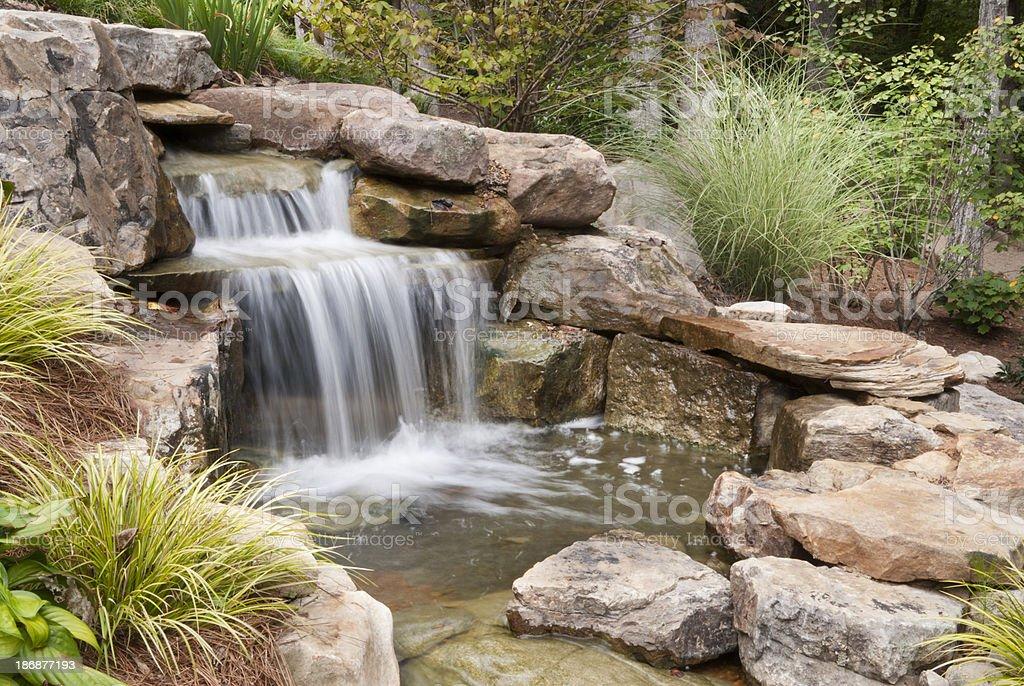 Backyard Waterfall royalty-free stock photo
