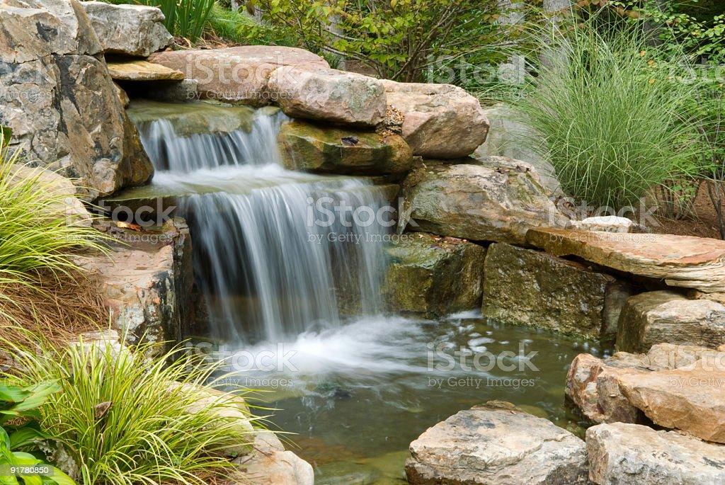 Backyard Waterfall stock photo
