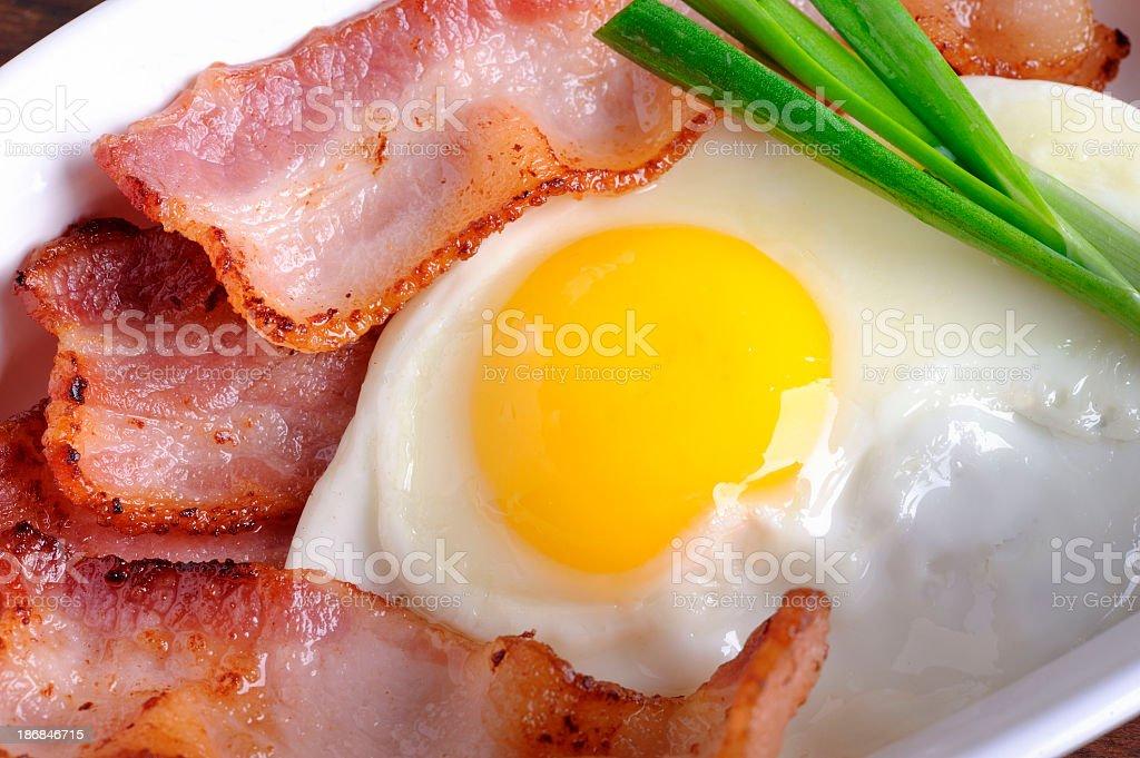 Bacon & Egg royalty-free stock photo