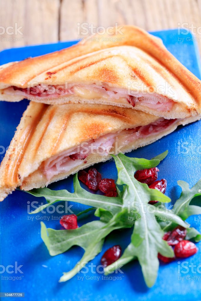 Bacon and cheese toasties royalty-free stock photo