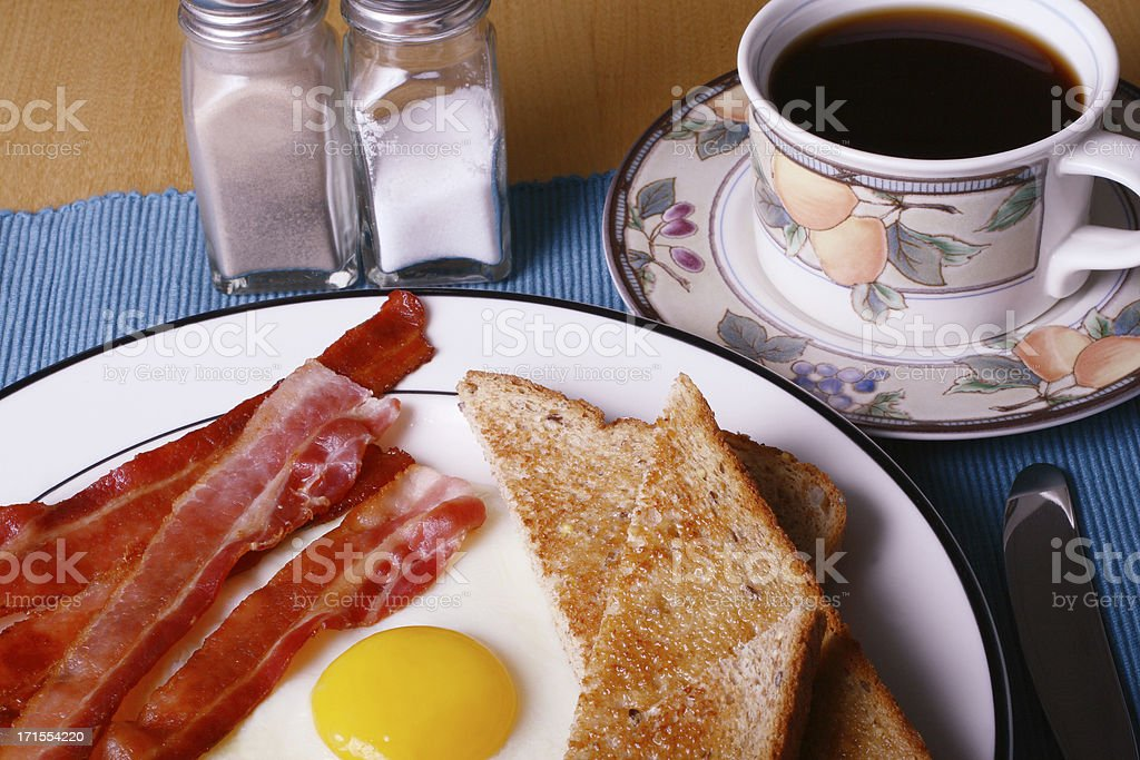 Bacon and Egg Breakfast royalty-free stock photo