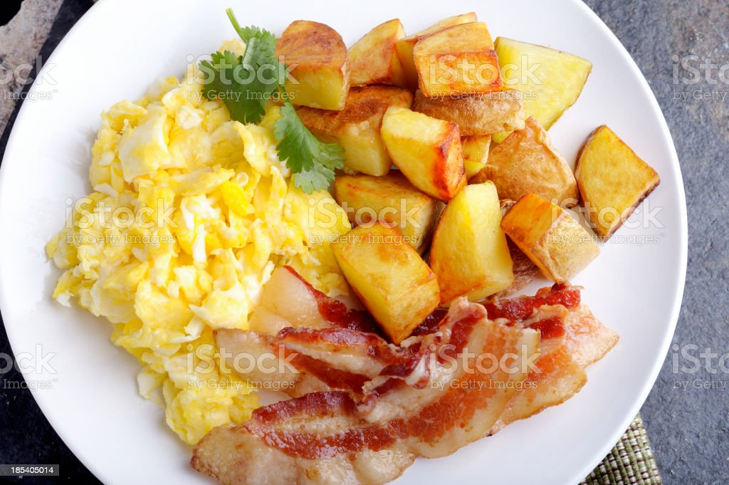 Bacon and Egg Breakfast. royalty-free stock photo