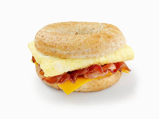 Bacon and Egg Breakfast Sandwich stock photo