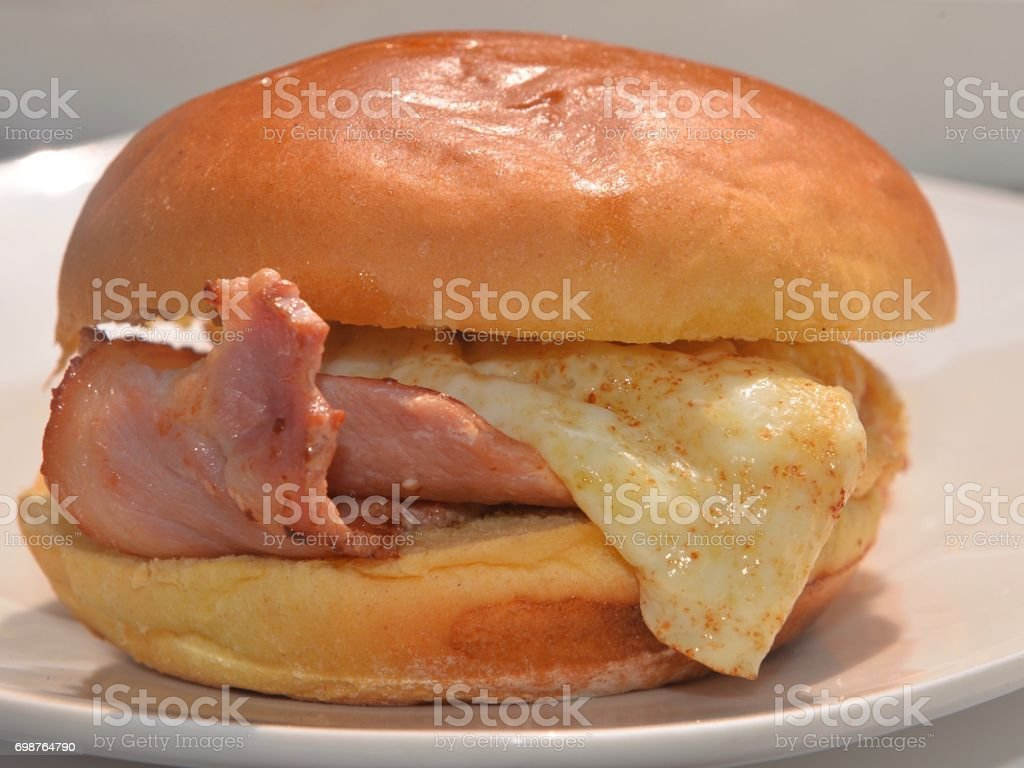 Bacon and Egg Brioche stock photo