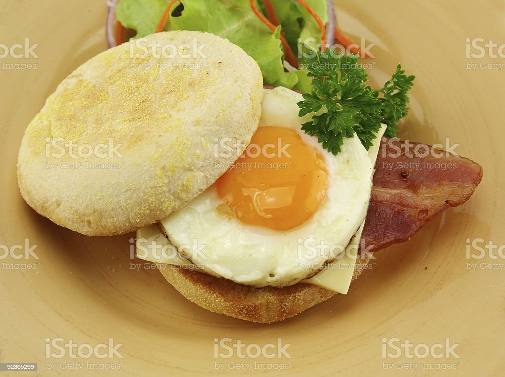 Bacon And Egg Muffin royalty-free stock photo