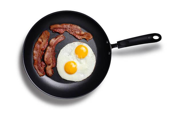 Speck und Eier im frying pan – Foto