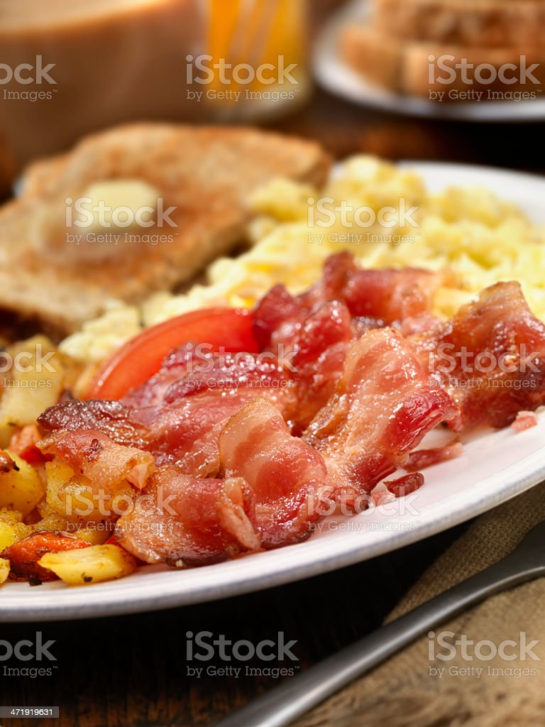 Bacon and Eggs stock photo