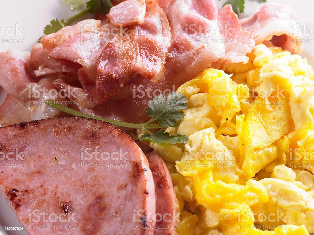 Bacon and Scrambled Egg royalty-free stock photo