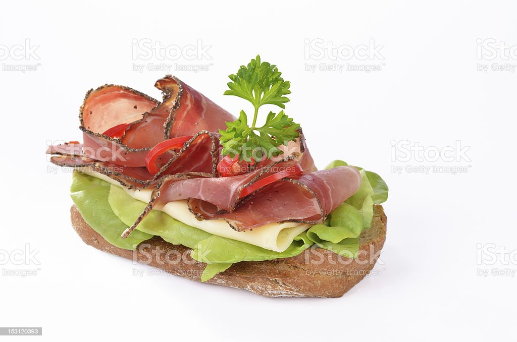 Bacon baguette royalty-free stock photo