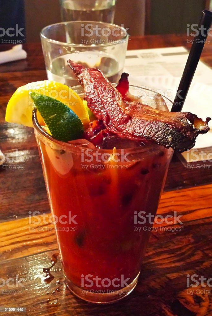 Bacon Bloody Mary stock photo