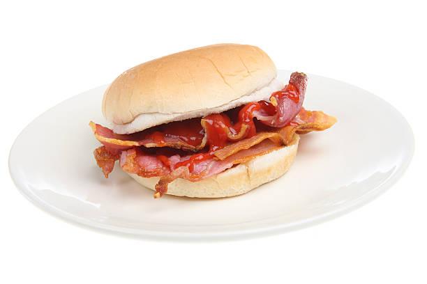 Bacon Breakfast Roll stock photo