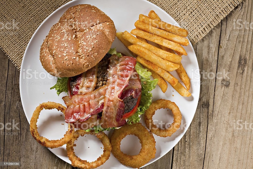Bacon Burger stock photo