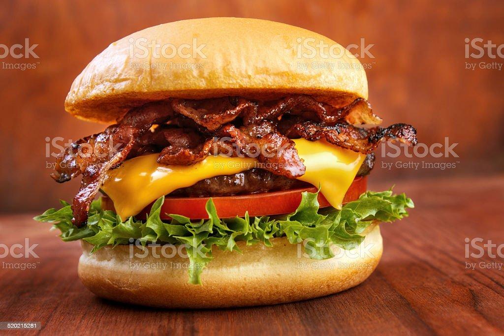 Pancetta Hamburger - foto stock