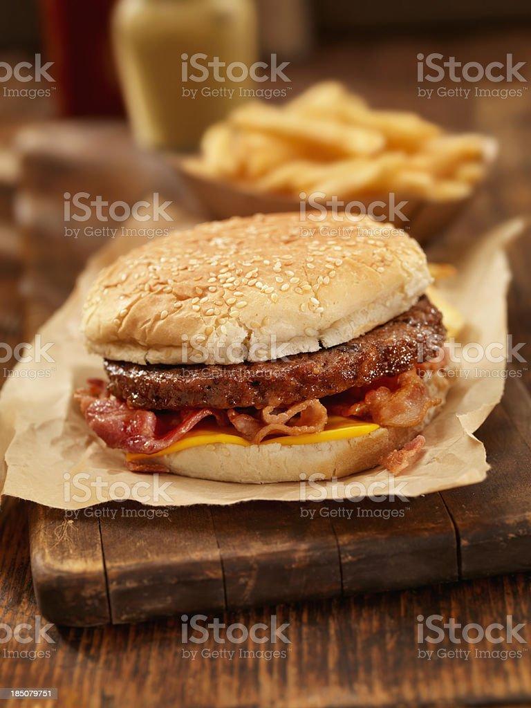 Bacon CheeseBurger royalty-free stock photo