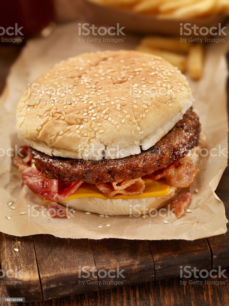 Bacon CheeseBurger royalty-free stock photo