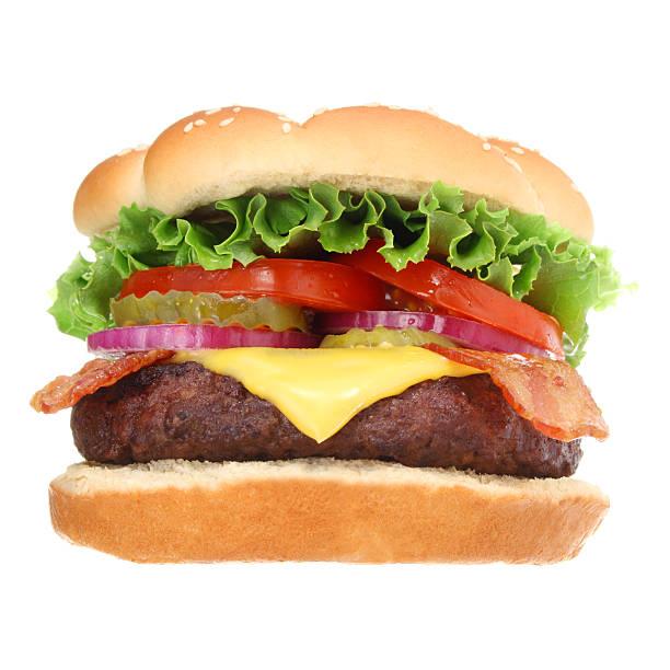 Bacon Cheeseburger  bacon cheeseburger stock pictures, royalty-free photos & images