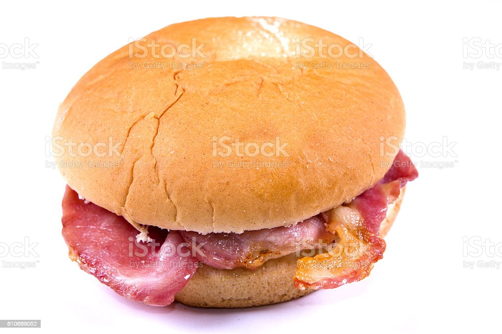 Bacon cob stock photo