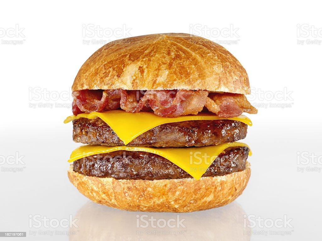 Bacon Double Cheeseburger stock photo