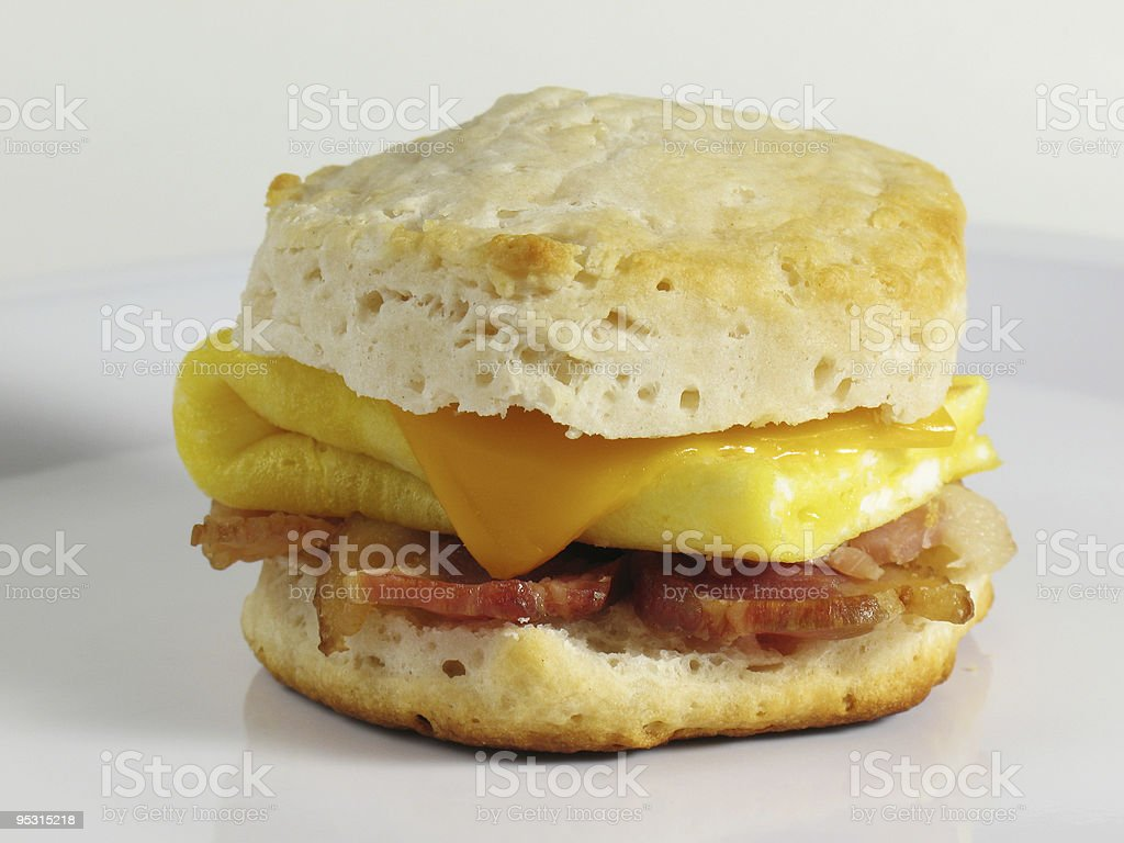 Bacon & Egg Biscuit stock photo
