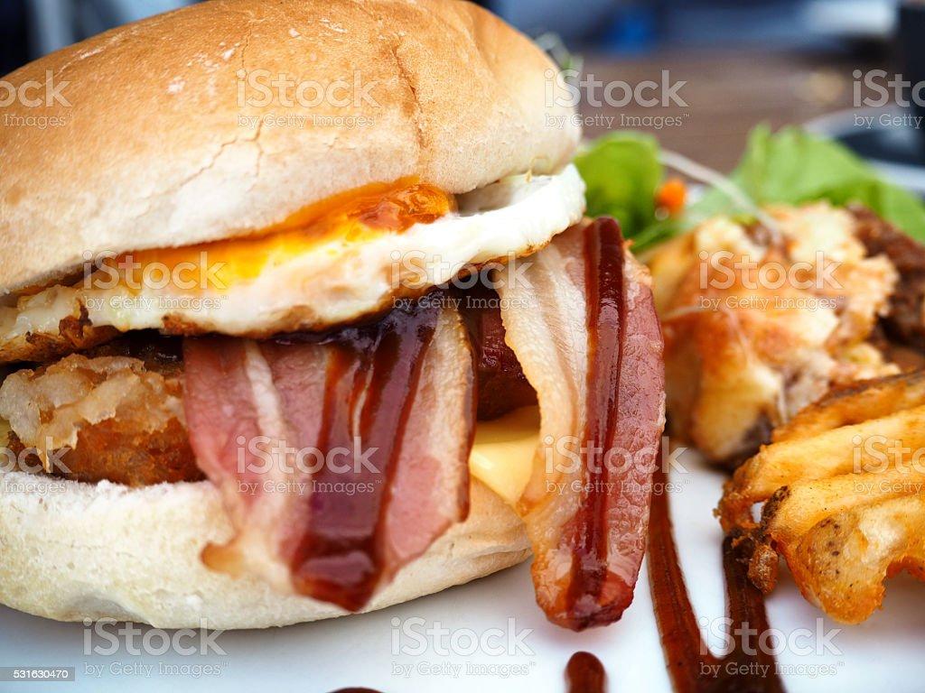 Bacon Egg Hash Brown Breakfast Sandwich Stock Photo Download Image Now Istock