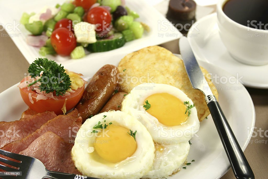 bacon, eggs, sausages, hashbrowns, - Royalty-free Bacon Stock Photo