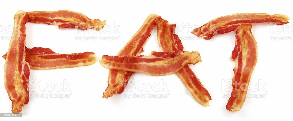 Bacon Fat, Pork | Overweight or Unhealthy Eating Concept royalty-free stock photo