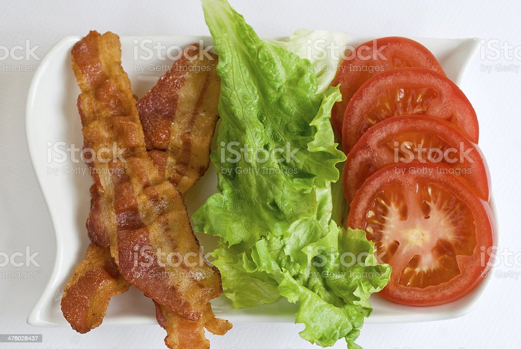bacon lettuce tomato horizontal stock photo