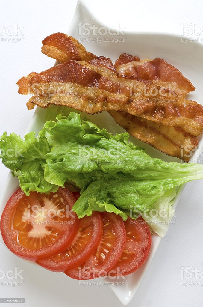 bacon lettuce tomato vertical stock photo