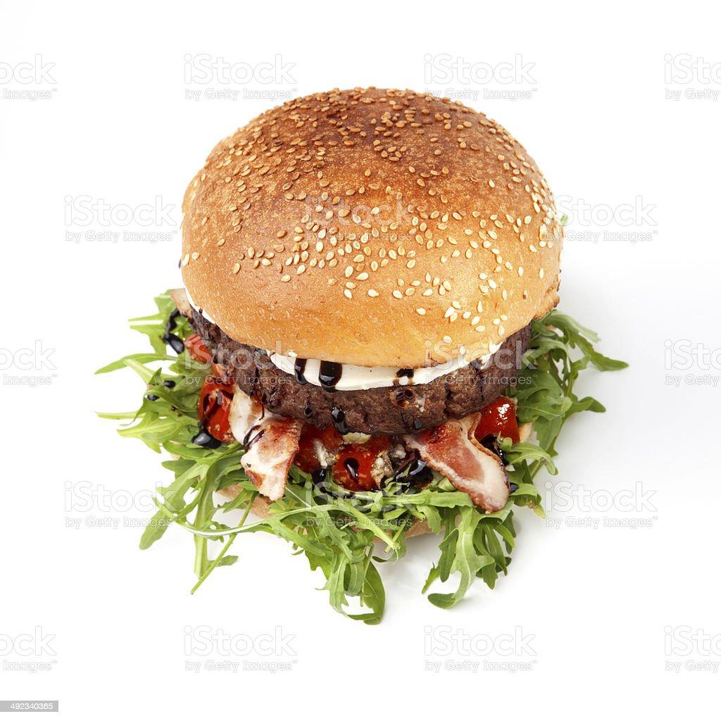 Speck-Mozzarella-Burger – Foto