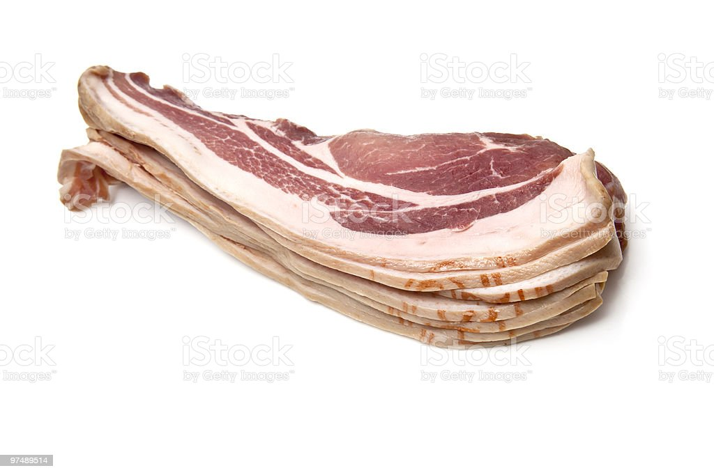 bacon on a white background royalty-free stock photo