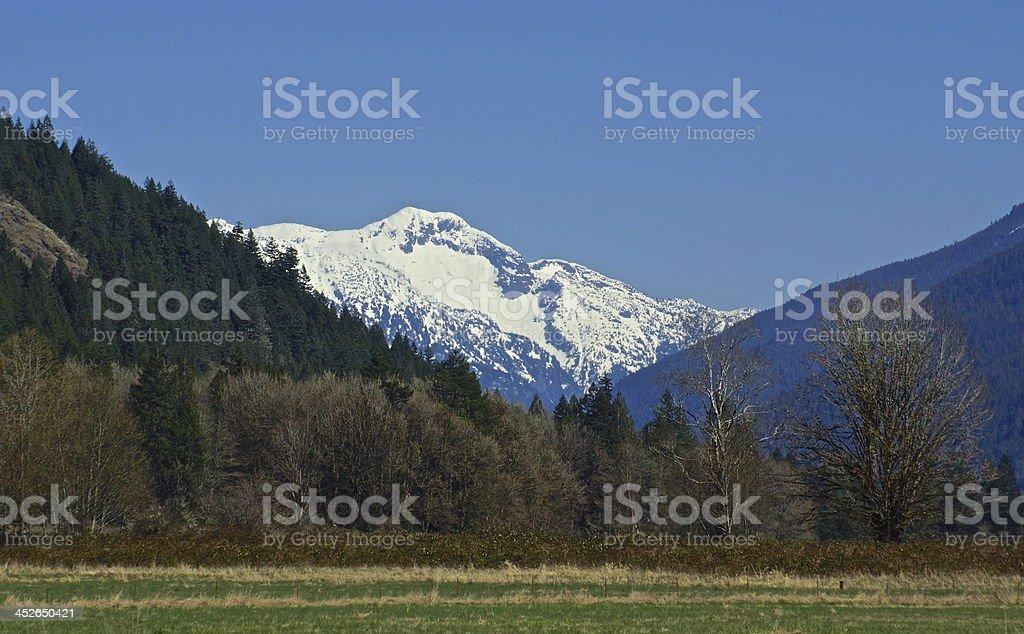 Bacon Peak's Blue Ice stock photo