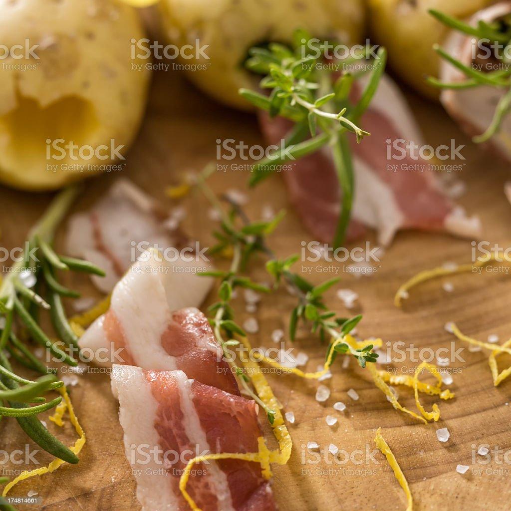 Bacon Potatoes royalty-free stock photo