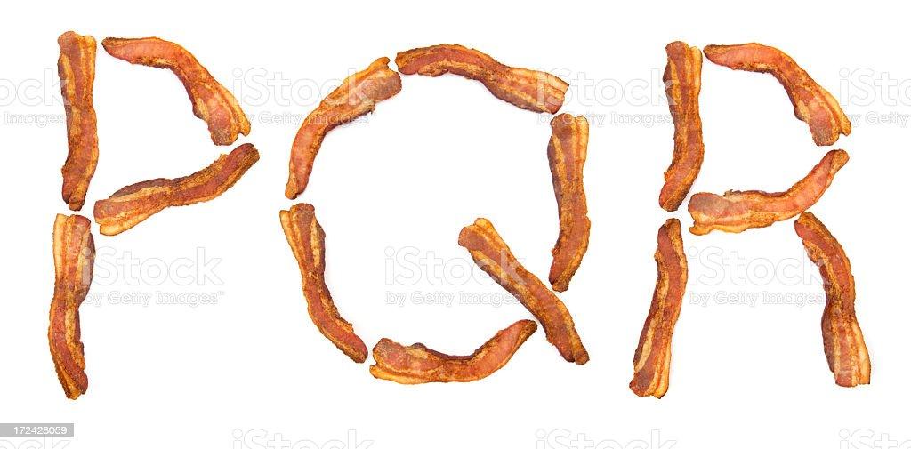 Bacon PQR royalty-free stock photo