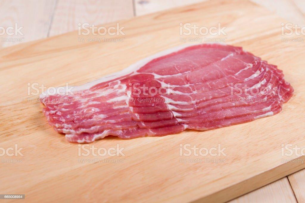 Bacon rashers stock photo