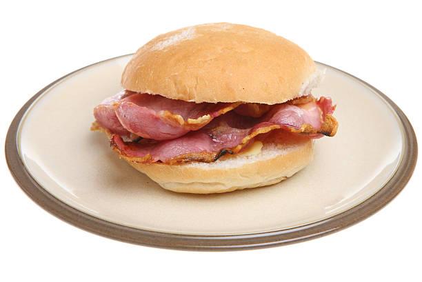 Bacon Roll stock photo