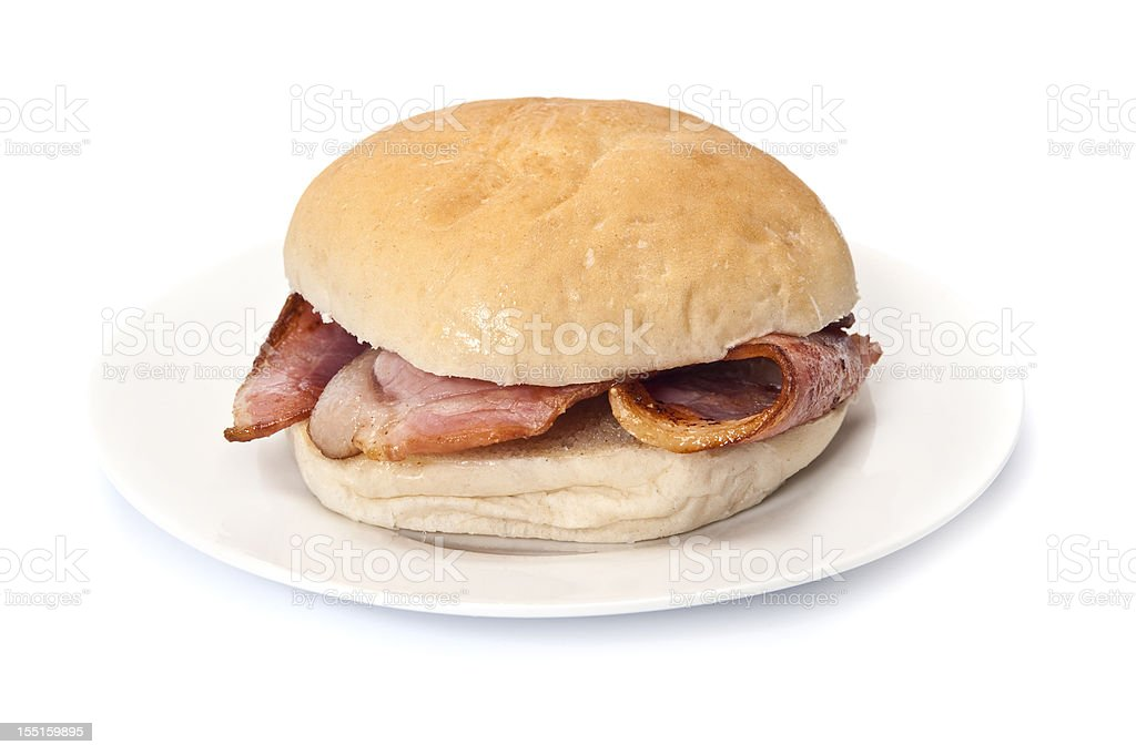 Bacon Roll stock photo